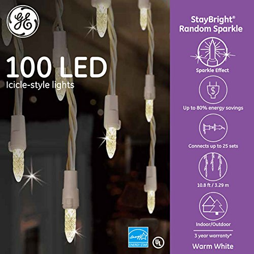 Ge 100 Count Led Icicle Lights