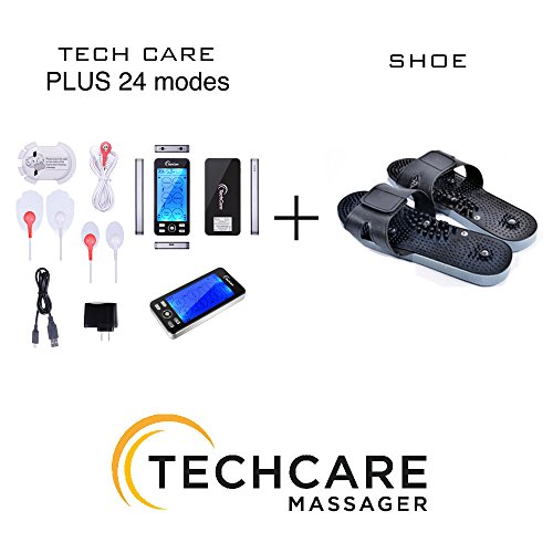 TENS Unit Device Massager [Lifetime Warranty] Plus 24 Modes with Shoes Dual Channel Portable Full Body Handheld Impulse Electronic Pulse Electrotherapy Pain Management Relief Therapy