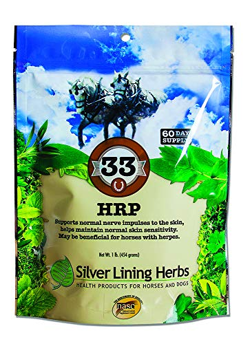 HRP | Supports Natural (Not Over Active) Nerve Impulses To the Horses Skin For Normal Skin Sensitivity | 1 Pound  Bag | Made By Silver Lining Herbs In the USA of Natural Herbs