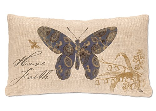 Heritage Lace Meadow Song Have Faith Pillow, 12 by 20-Inch, Natural by Heritage Lace