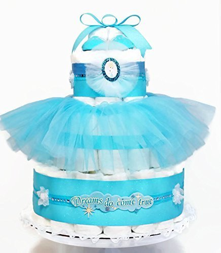 Cinderella Dreams Come True Baby Girl Diaper Cake Baby Shower Centerpiece by As Your Baby Grows Gift Boutique