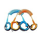lzndeal 1.5M Kids Baby Toddler Anti-lost Wrist Link Band Children Braclete Wristband Elastic Harness Safety Leash Strap (Blue+Orange)