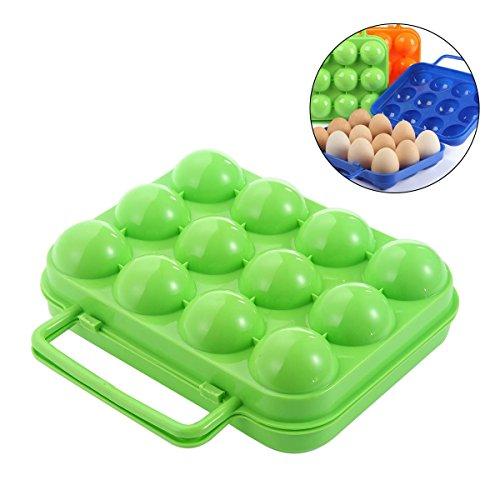 Aolvo Egg Carrier, Portable Foldable Egg Holder for Camping