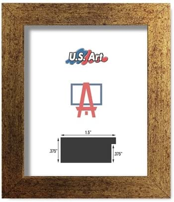 Amazon Com Us Art Frames 24x36 Brushed Copper Brass Finish Flat 1 5 Inch Mdf Wood Composite Picture Poster Frame