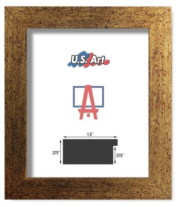US Art Frames 18x24 Brushed Copper Brass Finish Flat 1.5 Inch, MDF Wood Composite, Picture Poster Frame
