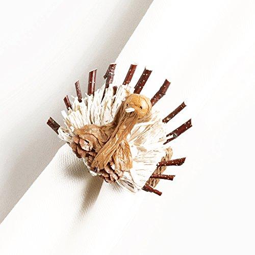 (Sisal Turkey Napkin Rings Set of 4)