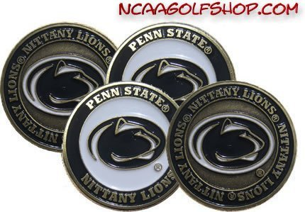 (4) Penn State Nittany Lions Golf Ball Markers