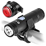 UGOE NB11-06 USB Rechargeable Bike Light SET – 500 Lumens LED Headlight, FREE USB Bicycle Taillight– High Quality Lights with Quick-release, Easy To Install for Kids Men Women, Water-resistant Review