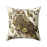 starlit Fashion Cute Owl Animal Pillow Case Square Shape Cushion Cover Car Seat Sofa Decor