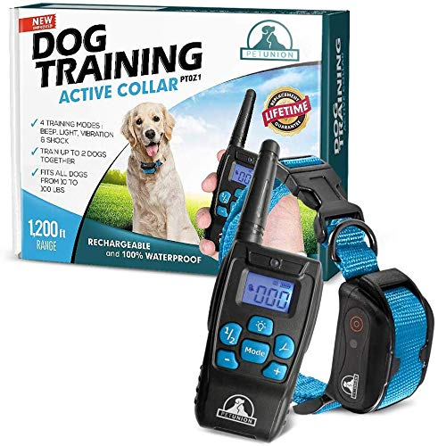 Pet-Union-PT0Z1-Premium-Dog-Training-Shock-Collar,-Fully-Waterproof