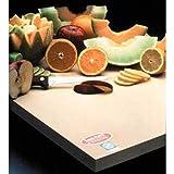 Sani-Tuff All-Rubber Cutting Board, 12x18x1/2''