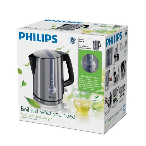 Philips HD4671/20 Energy Efficient Kettle 3000 W 1.7 L - Brushed Metal NEW eBay