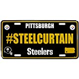Siskiyou NFL Pittsburgh Steelers Hashtag License Plate
