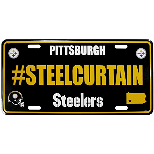 NFL Pittsburgh Steelers Hashtag License Plate (Day Games Christmas Nfl)