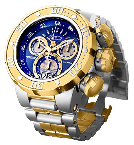 Invicta Dragon - Invicta Men's 'Reserve' Quartz Silver and Gold and Stainless Steel Casual Watch, Color:Two Tone (Model: 21605)