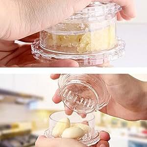 Spin Twist Garlic Press Cutter Kitchen Gadget Tool