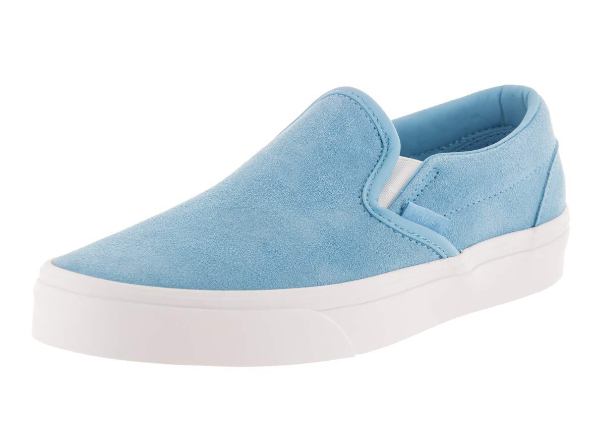 Vans Unisex Classic Slip-On¿ (Soft Suede) Alaskan Blue/True White 9 Women / 7.5 Men M US