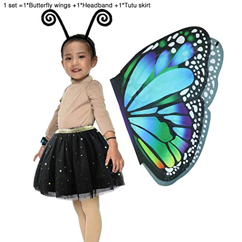 iROLEWIN Fairy Butterfly Wings Costume for Girls Kids
