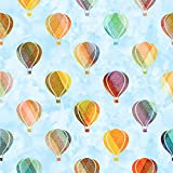 RNK Shops Watercolor Hot Air Balloons Wallpaper & Surface Covering (Peel & Stick 24''x 24'' Sample)