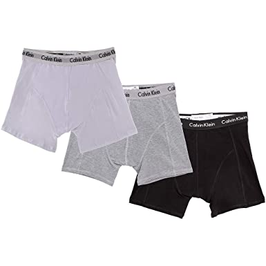 7db442082319 Men's Cotton Stretch 3 Pack Boxer Brief Underwear (Small, Black/White/Gray