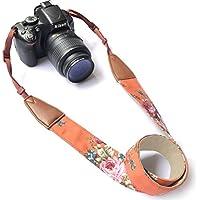 Camera Neck Shoulder Belt Strap, Alled Vintage Print Soft Colorful Camera Straps for Women /Men for All DSLR / Nikon / Canon / Sony / Olympus / Samsung / Pentax ETC /Olympus