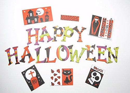 Halloween Theme Chipboard Uppercase Alphabet Letter 66 pcs - 1.5