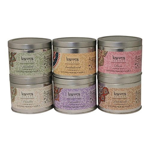 Scented candles variety gift pack lavender vanilla rose for Different brands of candles
