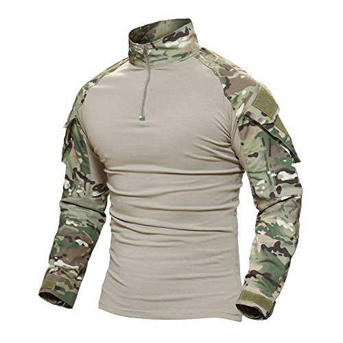 - MAGCOMSEN Camo T Shirts for Men Cotton Army T-Shirt Hunting Shooting Tshirt Camouflage Tee Top CP Woodland
