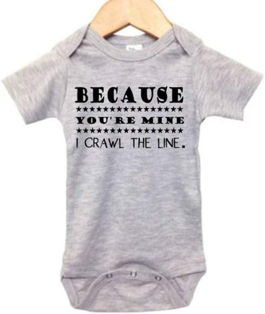 Johnny Cash Onesie/Because You're Mine I Crawl The Line/Country Music Bodysuit