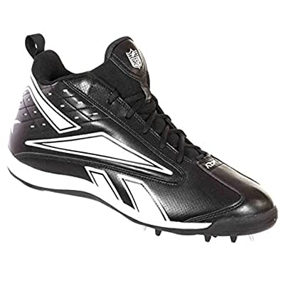 681b3eccd Image Unavailable. Image not available for. Color  Reebok NFL Thorpe MID MR7  II Mens Football Shoes Black ...