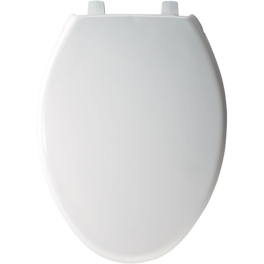Bemis 7800TDG 000 Plastic Toilet Seat Elongated, White by Bemis