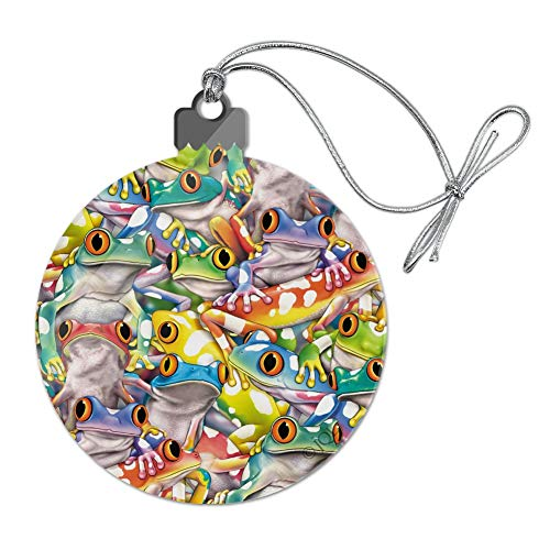 (GRAPHICS & MORE Tropical Rainforest Tree Frog Pattern Acrylic Christmas Tree Holiday Ornament)