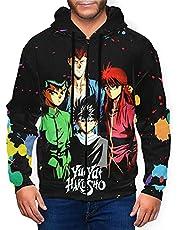 Anime Yu Yu Hakusho Rits Hoodies Klassieke Pullover Heren & Womens Hooded Lange Mouw Top Sweatshirt
