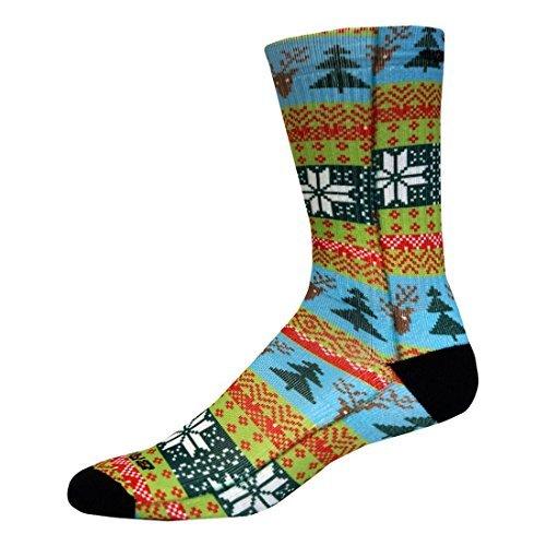 Brooks Pacesetter Ugly Sweater Crew Sock, Multi, Medium - Brooks Mens Socks