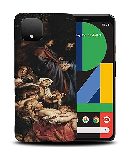Foxercases Designs #1 - Peter Paul Rubens - Elevation of The Cross II Art Art Painting Sketch Hard Phone Case Cover for Google Pixel 4