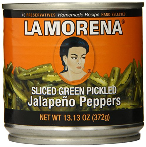 La Morena Jalapeno Peppers, Sliced, 13.1 Ounce (Pack of 12)