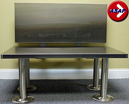 ADA Stainless Steel Locker Room Bench With Back Support - 42