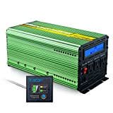 EDECOA 2000 Watt Power Inverter 12V to 110V with LCD Display and Remote Controller