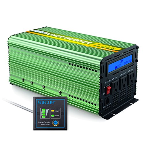 Edecoa 2000W Power Inverter DC 12V to 110V AC with LCD Display and Remote by EDECOA (Image #6)