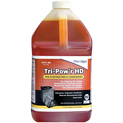 (Nu-Calgon Tri-Pow'r HD 4371-88 Cleaner for condensers, evaporator coils, permanent filters, fan blades, motors)