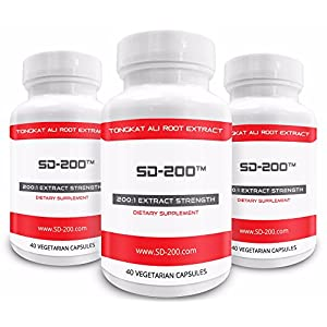 ★ 3 Bottles of SD 200 at 30% Off (Limited Quantity) ★ Genuine Tongkat Ali Extract 200:1 · Natural Testosterone Booster · Tongkat Ali Is Also Known As Longjack or Eurycoma Longifolia Jack