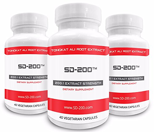 ★ 3 Bottles of SD-200 at 30% Off (Limited Quantity) ★ Genuine Tongkat Ali Extract 200:1 · Natural Testosterone Booster · Tongkat Ali Is Also Known As Longjack or Eurycoma Longifolia Jack by Pure Science Supplements
