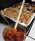 "12"" BBQ Basting Mops for Roasting or Grilling, Apply Barbeque Sauce, Marinade or Glazing, Cotton Fiber Head and Natural Hardwood Handle, Dish Mop Style, Perfect for Cooking or Cleaning - Pack of 2"