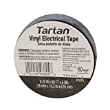 3M Tartan 1710 Vinyl Economical General Purpose Insulating Electrical Tape, 176 Degree F, 60' Length x 3/4'' Width, Black (Pack of 10)