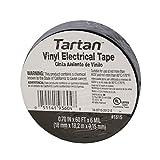 3M Tartan 1710 Vinyl Economical General Purpose Insulating Electrical Tape, 176 Degree F, 60' Length x 3/4'' Width, Black (Pack of 10)