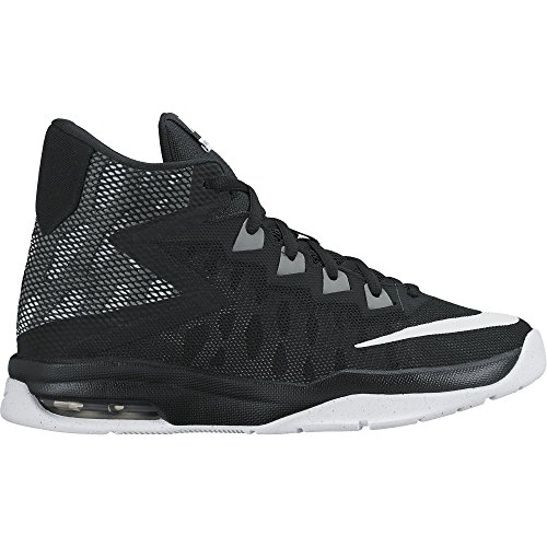 Boy's Nike Air Devosion (GS) Basketball Shoe Black/White/Cool Grey Uncategorized
