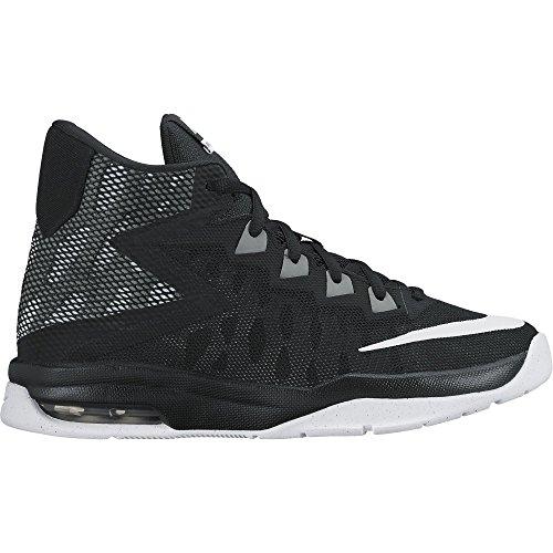 Image of NIKE Boy's Air Devosion (GS) Basketball Shoe Black/White/Cool Grey Size 5.5 M US