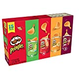 Pringles Potato Crisps Chips, Flavored Variety Pack, Original, Cheddar Cheese, Sour Cream and Onion, BBQ, 15 Count