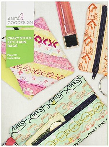 Anita Goodesign Embroidery Designs Crazy Stitch Keychain Bags by Anita Goodesign