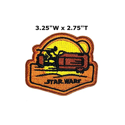 Star Wars Jedi Luke Skywalker Rey Patch Daisy Ridley Comics Sci-Fi New Han Solo Movie Embroidered Sew or Iron-on Badge DIY (Rey Solo Costume)